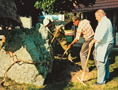 Gedenkstein Gerbertshaus graben