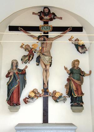 Heilig Kreuz Kapelle Brochenzell Kreuzigungsgruppe